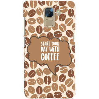 ColourCrust Huawei Honor 7 / Dual Sim / Enhanced Edition Mobile Phone Back Cover With Coffee Beans Pattern Style - Durable Matte Finish Hard Plastic Slim Case