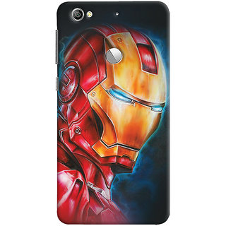 ColourCrust LeEco LE1S Mobile Phone Back Cover With Iron Man - Durable Matte Finish Hard Plastic Slim Case