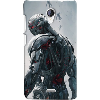 ColourCrust Micromax Unite 2 A106 Mobile Phone Back Cover With Ultron Back - Durable Matte Finish Hard Plastic Slim Case