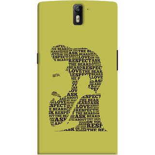 ColourCrust OnePlus One Mobile Phone Back Cover With Beard Love Quirky - Durable Matte Finish Hard Plastic Slim Case