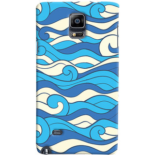 ColourCrust Samsung Galaxy Note 4 Mobile Phone Back Cover With Pattern Style - Durable Matte Finish Hard Plastic Slim Case