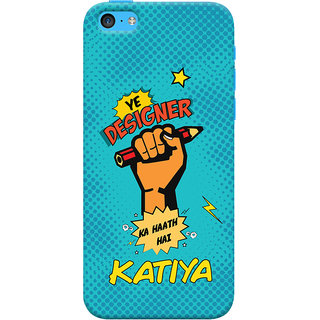 ColourCrust Apple iPhone 5C Mobile Phone Back Cover With Designer Ka Haath Katiya Quirky - Durable Matte Finish Hard Plastic Slim Case
