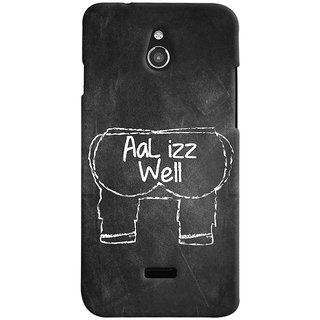 ColourCrust Infocus M2 Mobile Phone Back Cover With Aal Izz Well Quirky - Durable Matte Finish Hard Plastic Slim Case
