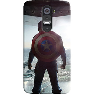 ColourCrust LG G2 / Optimus G2 Mobile Phone Back Cover With Captain America - Durable Matte Finish Hard Plastic Slim Case