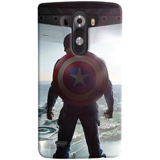 ColourCrust LG G3/ Optimus G3 Mobile Phone Back Cover With Captain America - Durable Matte Finish Hard Plastic Slim Case