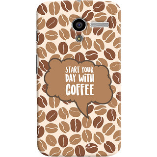 ColourCrust Motorola Moto X Mobile Phone Back Cover With Coffee Beans Pattern Style - Durable Matte Finish Hard Plastic Slim Case