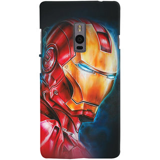 ColourCrust OnePlus 2 Mobile Phone Back Cover With Iron Man - Durable Matte Finish Hard Plastic Slim Case