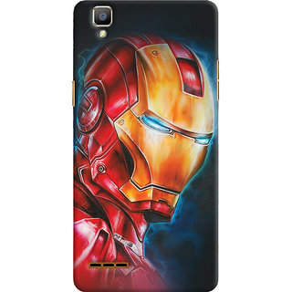 ColourCrust Oppo F1 Mobile Phone Back Cover With Iron Man - Durable Matte Finish Hard Plastic Slim Case