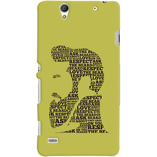 ColourCrust Sony Xperia C4 / Dual Sim Mobile Phone Back Cover With Beard Love Quirky - Durable Matte Finish Hard Plastic Slim Case