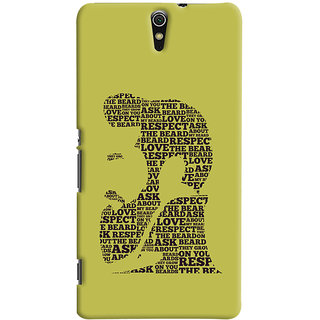 ColourCrust Sony Xperia C5 /Ultra Dual Sim Mobile Phone Back Cover With Beard Love Quirky - Durable Matte Finish Hard Plastic Slim Case