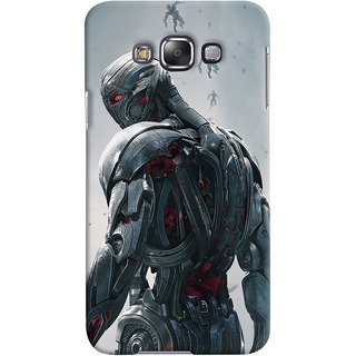 ColourCrust Samsung Galaxy E7 Mobile Phone Back Cover With Ultron Back - Durable Matte Finish Hard Plastic Slim Case