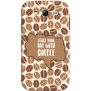 ColourCrust Samsung Galaxy Grand Neo Plus Mobile Phone Back Cover With Coffee Beans Pattern Style - Durable Matte Finish Hard Plastic Slim Case
