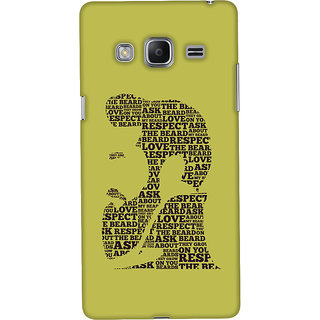 ColourCrust Samsung Galaxy Z3 Mobile Phone Back Cover With Beard Love Quirky - Durable Matte Finish Hard Plastic Slim Case