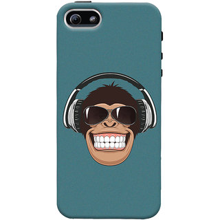 ColourCrust Apple iPhone 5 Mobile Phone Back Cover With Music Lover Quirky Style - Durable Matte Finish Hard Plastic Slim Case