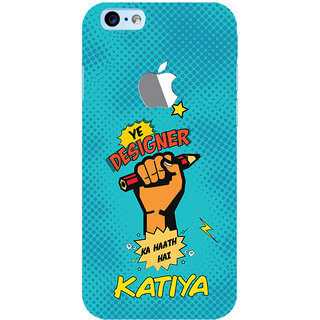 ColourCrust New Apple iPhone 6 with Logo Mobile Phone Back Cover With Designer Ka Haath Katiya Quirky - Durable Matte Finish Hard Plastic Slim Case