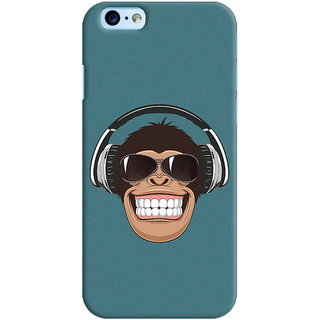 ColourCrust Apple iPhone 6S Mobile Phone Back Cover With Music Lover Quirky Style - Durable Matte Finish Hard Plastic Slim Case