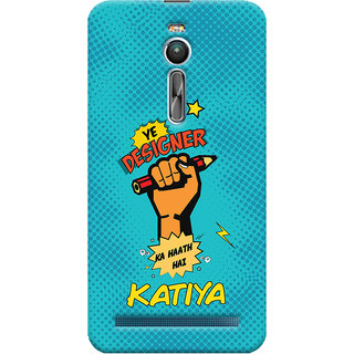 ColourCrust Asus Zenfone 2 ZE550ML Mobile Phone Back Cover With Designer Ka Haath Katiya Quirky - Durable Matte Finish Hard Plastic Slim Case