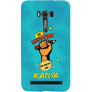 ColourCrust Asus Zenfone Go Mobile Phone Back Cover With Designer Ka Haath Katiya Quirky - Durable Matte Finish Hard Plastic Slim Case