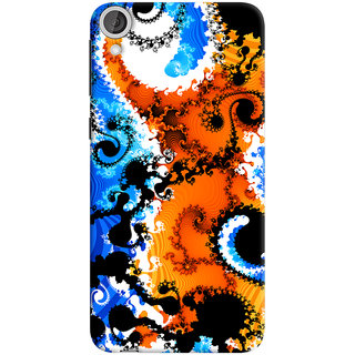 ColourCrust HTC Desire 820 Dual Sim Mobile Phone Back Cover With Colourful Art Pattern Style - Durable Matte Finish Hard Plastic Slim Case