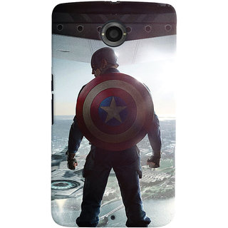 ColourCrust Motorola Google Nexus 6 Mobile Phone Back Cover With Captain America - Durable Matte Finish Hard Plastic Slim Case