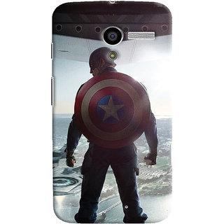 ColourCrust Motorola Moto X Mobile Phone Back Cover With Captain America - Durable Matte Finish Hard Plastic Slim Case
