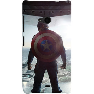 ColourCrust Microsoft Lumia 535 / Dual Sim Mobile Phone Back Cover With Captain America - Durable Matte Finish Hard Plastic Slim Case