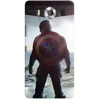 ColourCrust Microsoft Lumia 950 Mobile Phone Back Cover With Captain America - Durable Matte Finish Hard Plastic Slim Case