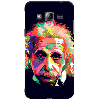ColourCrust Samsung Galaxy J3 Mobile Phone Back Cover With Einstein Low Poly Art - Durable Matte Finish Hard Plastic Slim Case