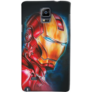 ColourCrust Samsung Galaxy Note 4 Mobile Phone Back Cover With Iron Man - Durable Matte Finish Hard Plastic Slim Case