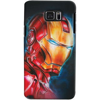 ColourCrust Samsung Galaxy Note 5 Mobile Phone Back Cover With Iron Man - Durable Matte Finish Hard Plastic Slim Case