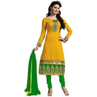 Women's Fashion  Cotton Salwar Suit (Yellow)