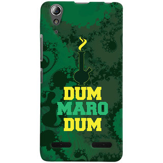 ColourCrust Lenovo A6000 Mobile Phone Back Cover With Dum Maro Dum Quirky - Durable Matte Finish Hard Plastic Slim Case
