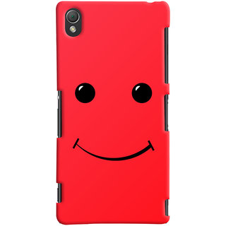 ColourCrust Sony Xperia Z3 Compact / Mini Mobile Phone Back Cover With Smiley Expressions Style - Durable Matte Finish Hard Plastic Slim Case