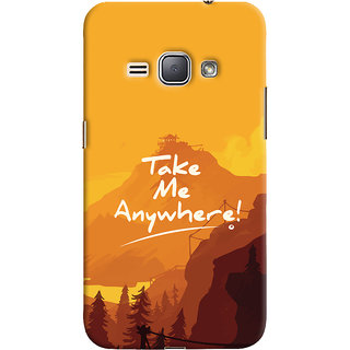 ColourCrust Samsung Galaxy J1 (2016 Edition) Mobile Phone Back Cover With Take Me Anywhere Travellers Choice - Durable Matte Finish Hard Plastic Slim Case