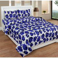 Bsb Trendz 3D Printed Double Bedsheet With 2 Pillow Covers-(Nw-Vi1952)