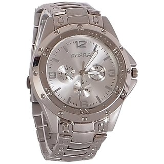 Buy rosra silver steel analog watch online get 71 off for Rosra watches