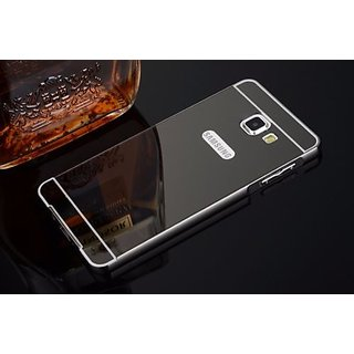 low priced 19fc2 87f7f Samsung Galaxy J5 Prime Metal Bumper Acrylic Mirror Back Case Cover-Black