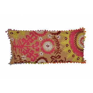 Indian Embroidered Pillow Cases Decorative Suzani Cushions Vintage Throw Pillows