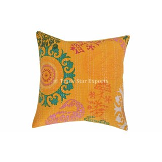 16 Suzani Kantha Pillow Cases Indian Cotton Cushion Covers Decorative Shams Art