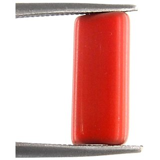 7 Ratti 100 original  Red Coral / Moonga  Gemstone by lab certified