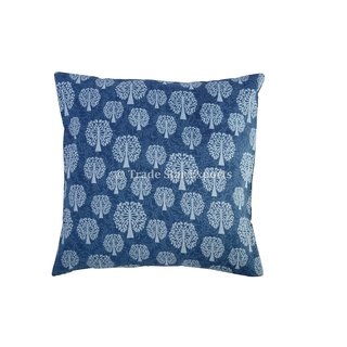 Hand Block Print 16 Indian Cushions Throw Decorative Indigo Pillow Cases Home Dcor
