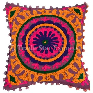 Vintage Suzani Cushion Covers Decorative Throw Pillows 16x16 Cotton Pillow Cases