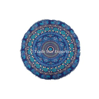 Mandala Round Meditation Pillows Indian Large Floor Cushion Covers with Insert