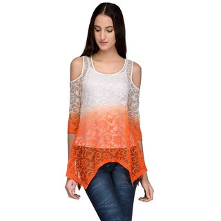 Tunic Nation Women Lace Round Neck Top
