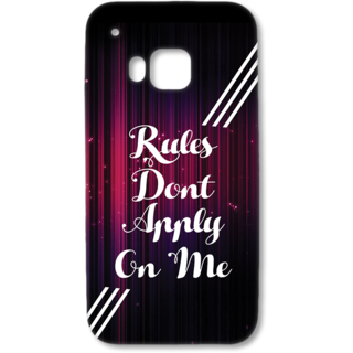 HTC One M9 Designer Hard-Plastic Phone Cover from Print Opera - Rules Dont Apply on me
