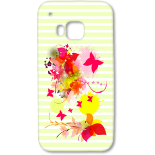 HTC One M9 Designer Hard-Plastic Phone Cover from Print Opera - Pink Floral