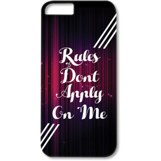 Iphone6-6s Designer Hard-Plastic Phone Cover from Print Opera - Rules Dont Apply on me
