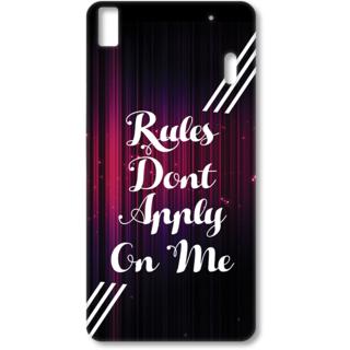 Lenovo K3 Note Designer Hard-Plastic Phone Cover from Print Opera - Rules Dont Apply on me