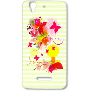 MICROMAX YUREKA Designer Hard-Plastic Phone Cover from Print Opera - Pink Floral