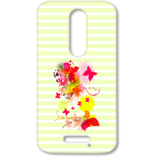 MOTO X FORCE Designer Hard-Plastic Phone Cover from Print Opera - Pink Floral